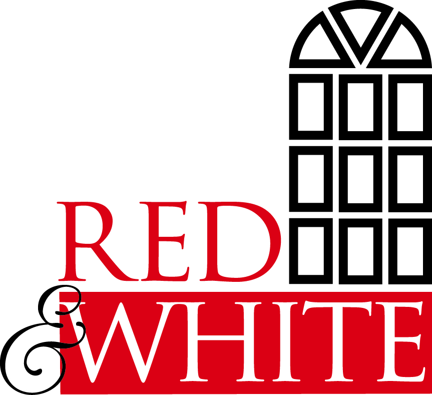 Red and White logo